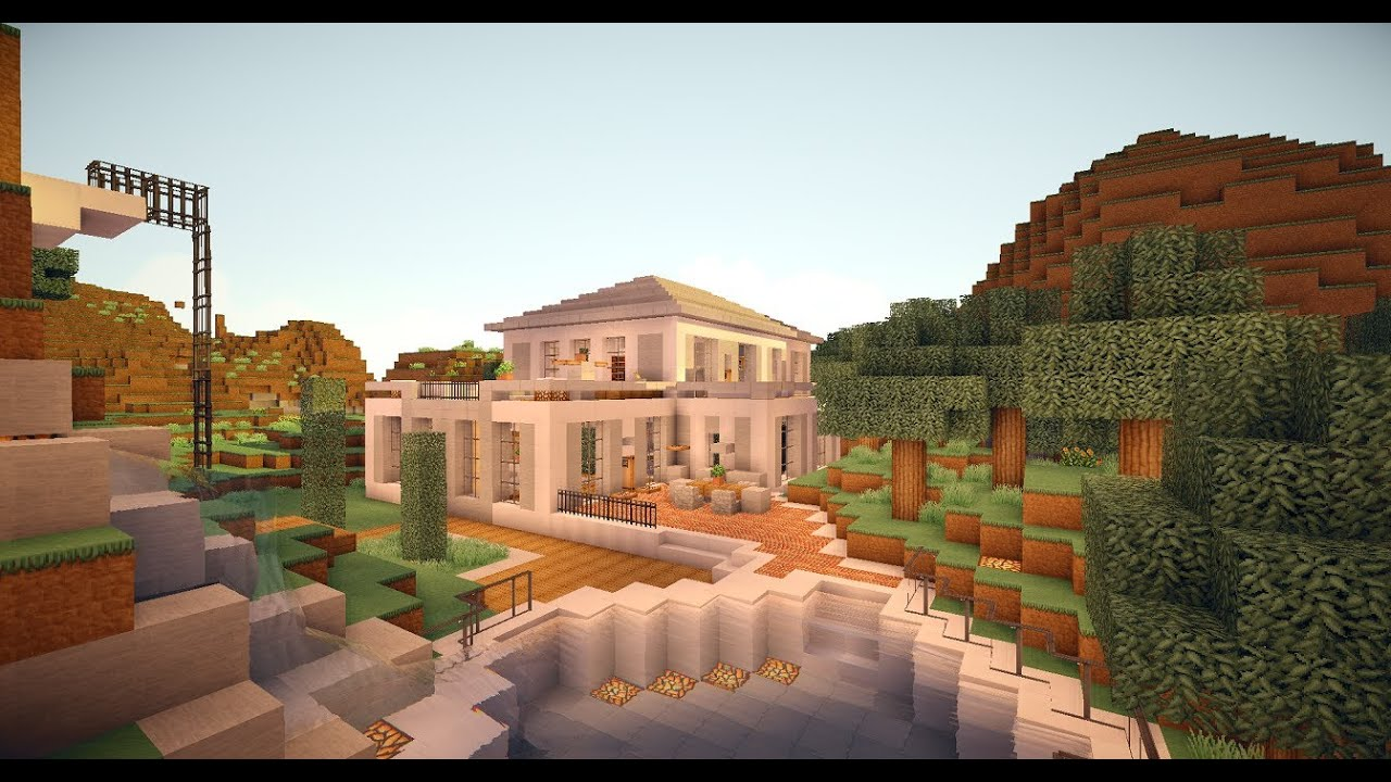 Moderne minecraft villa 1 hollywood style youtube - Minecraft villa ...