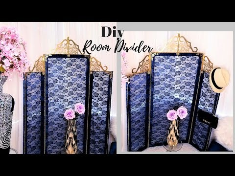 HOW TO MAKE INEXPENSIVE LACE ROOM DIVIDERS FOR SMALL SPACES