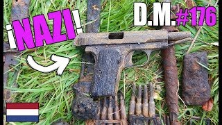 PANZERFAUST, PISTOL and MORE WEAPONS of WW2 MAGNET FISHING in Netherlands - Detección Metálica 176