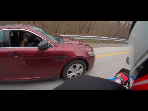 My First (and last) Attempt at Lane Splitting - PA State Trooper Encounter