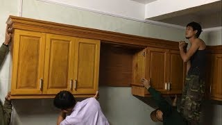 Woodworking Projects Modern - How To Build & Installation Complete Kitchen Cabinets Wall Mounted #2 Thanks for watching,