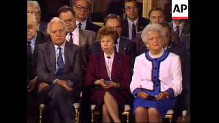 President George H.W. Bush and Soviet Union leader Mikhail Gorbachev held their final news conferenc