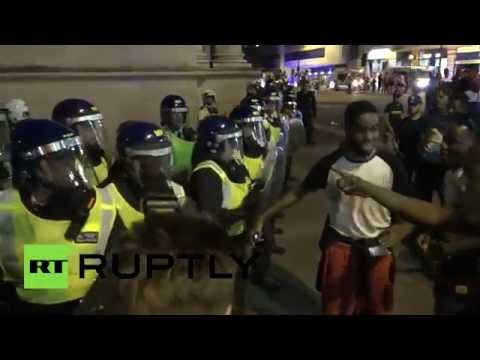 RAW: Three stabbed after water fight in London