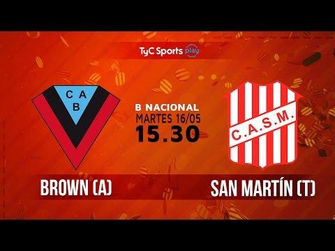 Primera B Nacional: Brown (A) vs. San Martín (T) | #BNacionalenTyC
