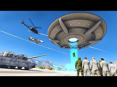 HUGE ALIEN INVASION DESTROYS LOS SANTOS - GTA 5 MOD !!!