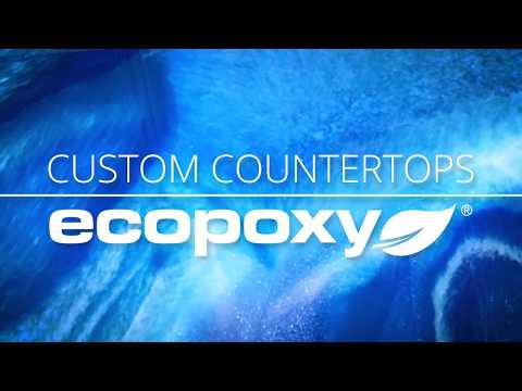 EcoPoxy Custom Countertops: Brilliant Blue