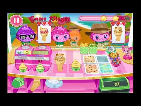 Strawberry Shortcake Ice Cream Yummy frozen yogurt in Jungleberry Volcanos Compilation Game Player