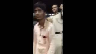 Police Touching Women at railway station