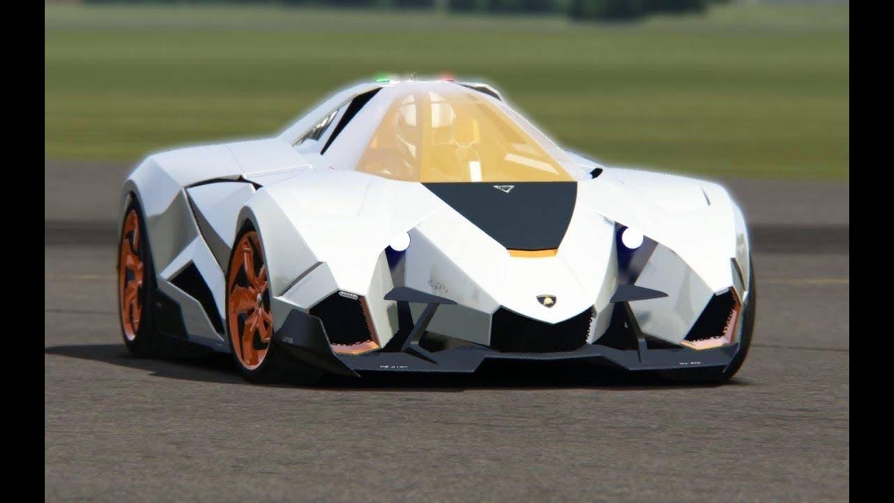 Lamborghini Egoista Concept At Top Gear Testing Youtube