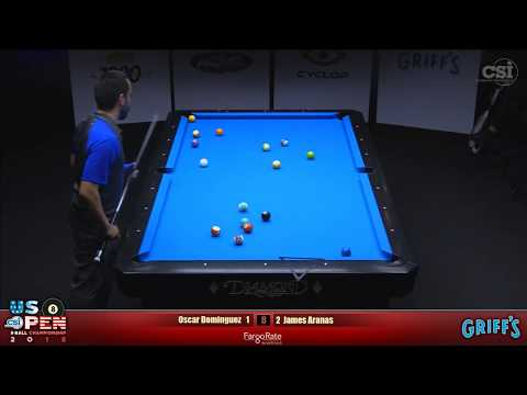 2018 US Open 8-Ball Championship: Oscar Dominguez Vs James Aranas