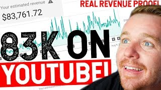 HOW MUCH MONEY MY YOUTUBE CHANNEL MAKES! $83,000+