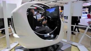 Toyota Racing Simulator At The 2012 North American International Auto Show