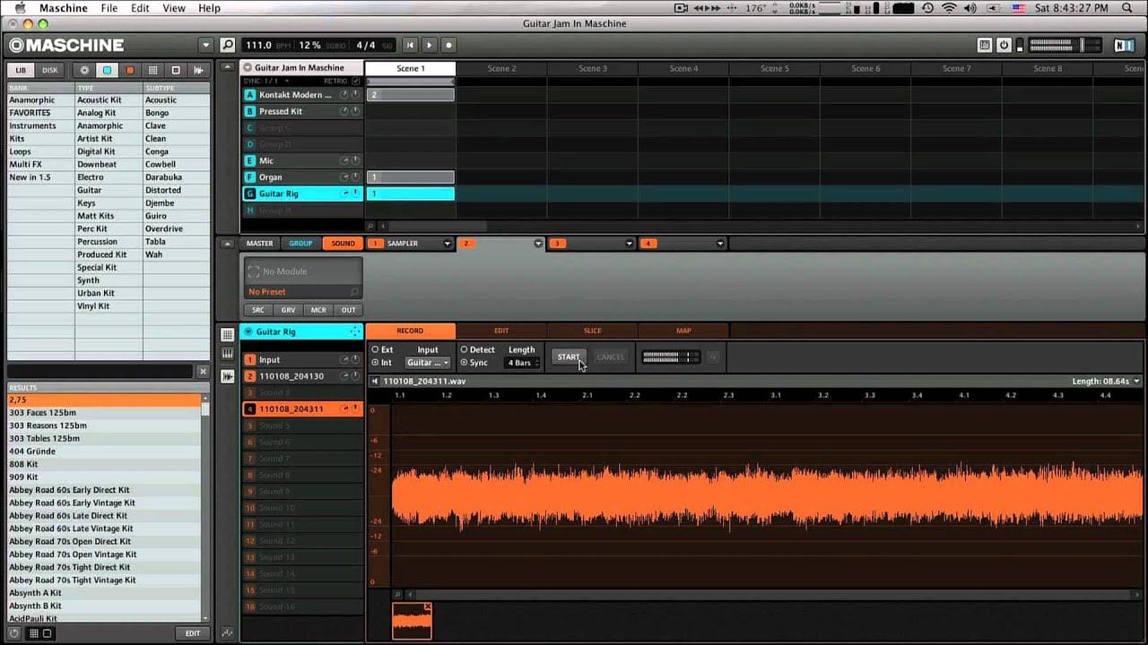 NI Maschine 1 6 Live Sampling With VST