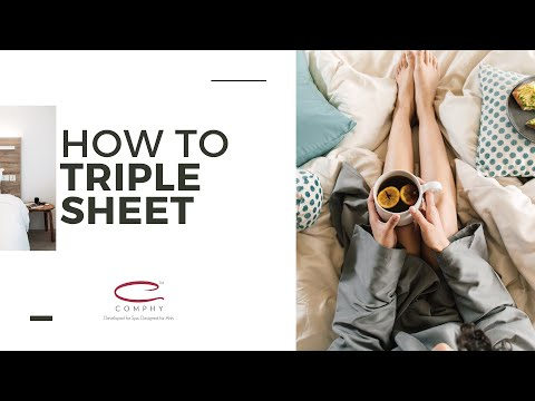 how to triple sheet comphy - Comphy Sheets