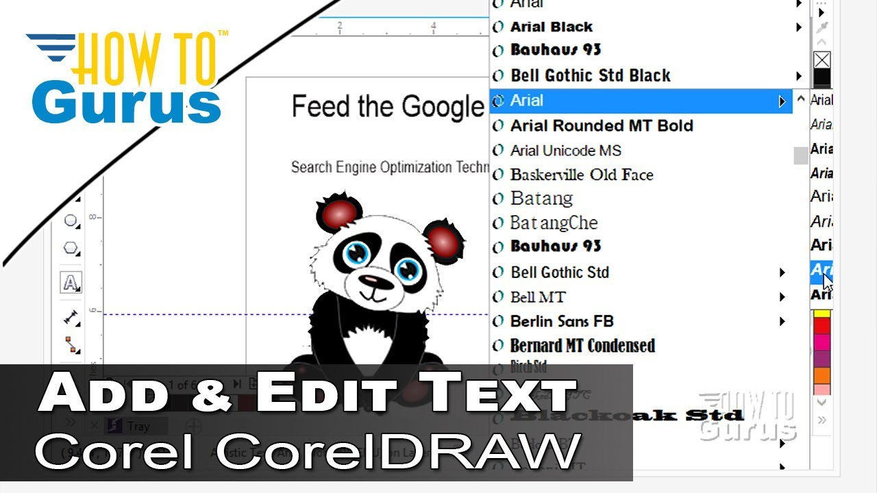 CorelDRAW Text Effects - How to Add and Edit Text in CorelDRAW