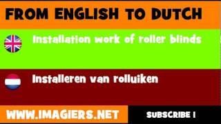 NEDERLANDS = ENGELS = Installeren van rolluiken