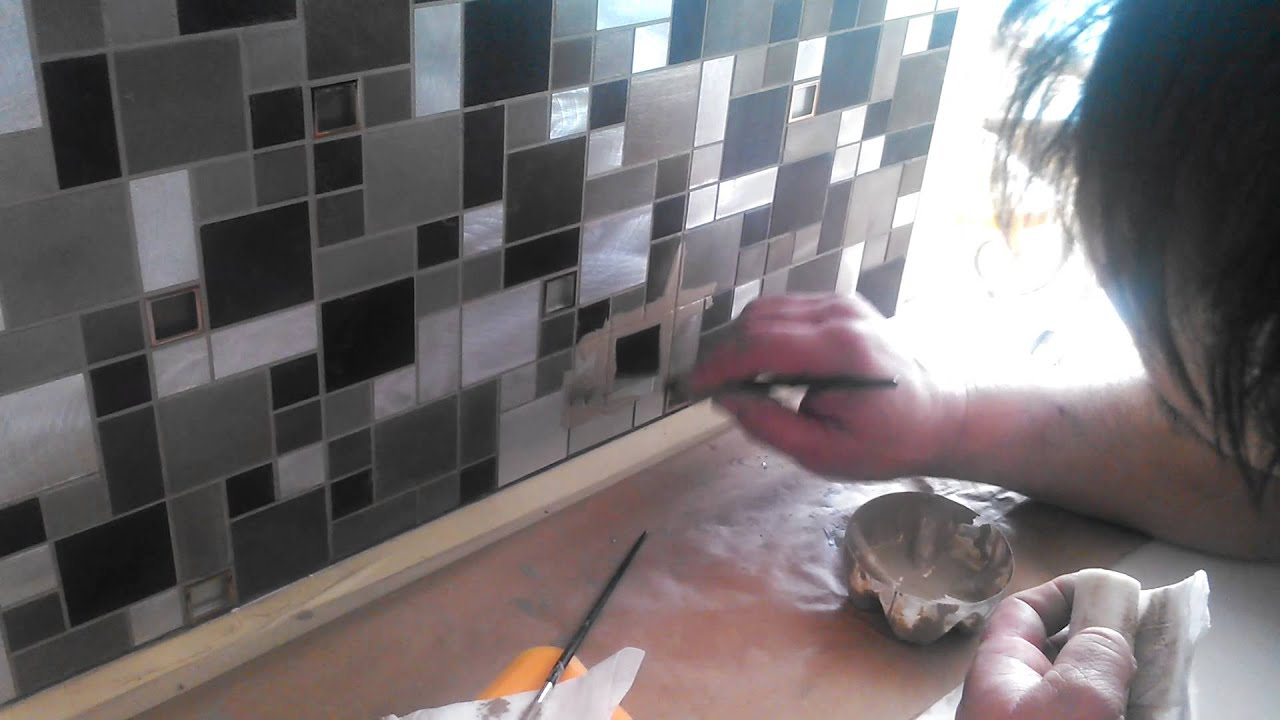 Recolor metal mosaic tile grout youtube recolor metal mosaic tile grout tyukafo