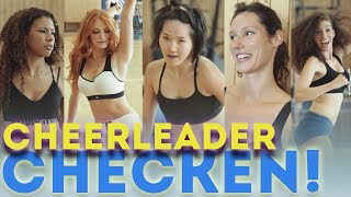 Heiße Cheerleader abchecken beim Alba Dancers Casting