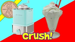 Ice Cream Maker With Candy Crusher! - Nostalgia Products