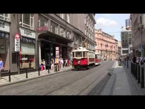 Trams in Prague, Czech Republic - 9th July, 2015