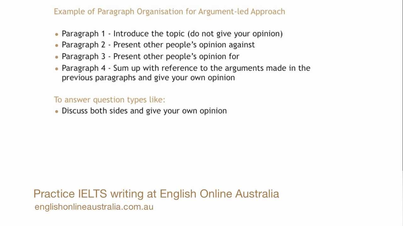 IELTS Writing Lesson 211 - Task 21 Opinion Essay (Argument-led Approach)