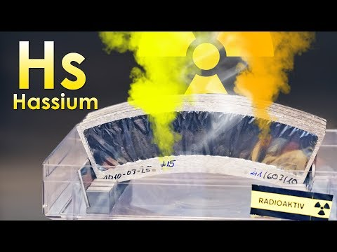 Hassium - THE MOST VOLATILE METAL ON EARTH!