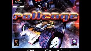 RollCage PS1 gameplay (played on PS3) - HD 1080p