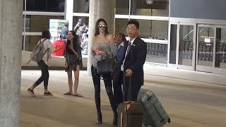 PREMIUM EXCLUSIVE: Kendall Jenner Tries To Go Incognito In Tight Jeans And Braless At LAX