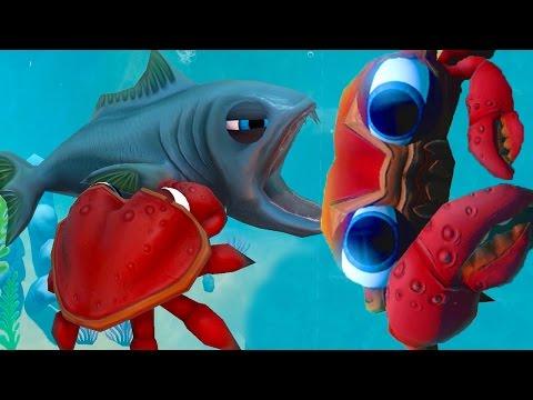 КРАБИК ПРОТИВ РЫБ! ХОЧУ СТАТЬ КОРОЛЁМ КРАБОВ! FEED AND GROW FISH