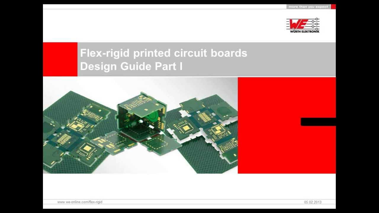 Würth Elektronik Webinar: Flex-rigid printed circuit boards - Design Guide  Part I
