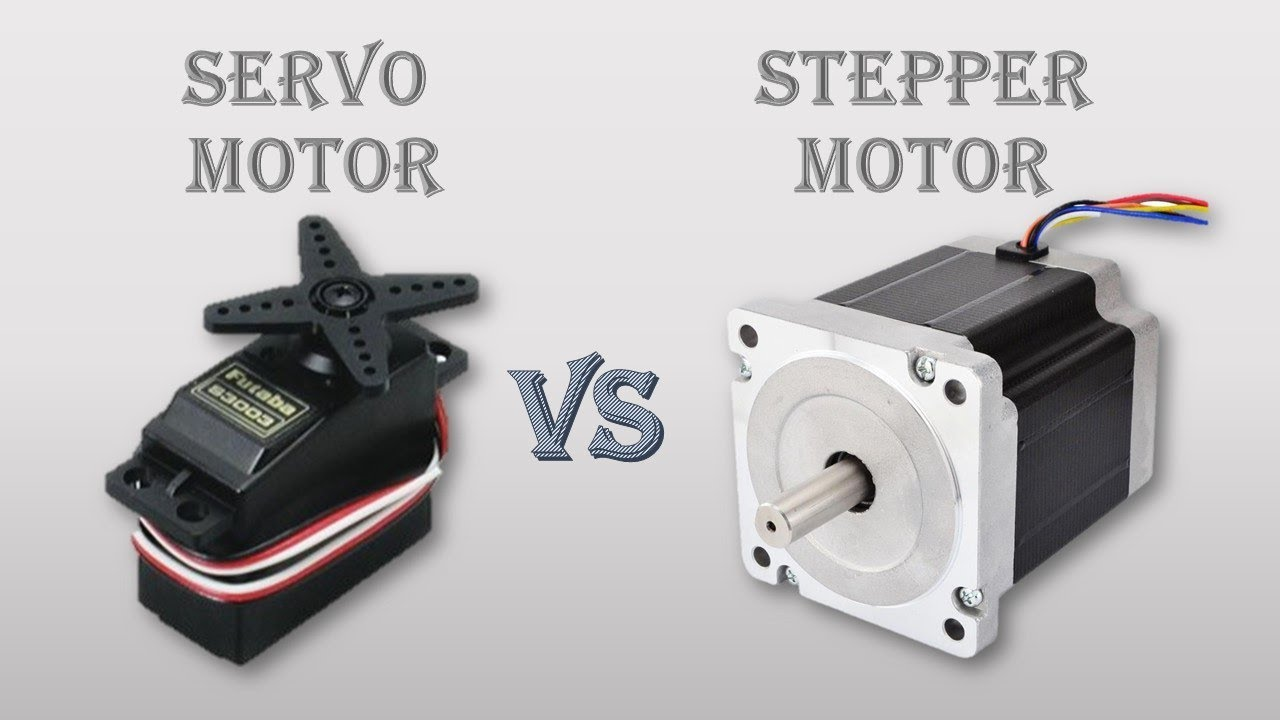 Difference Between Servo motor and Stepper motor working and uses