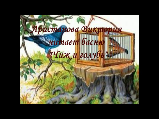 Изображение предпросмотра прочтения – ВикторияАристанова читает произведение «Чиж и Голубь» И.А.Крылова