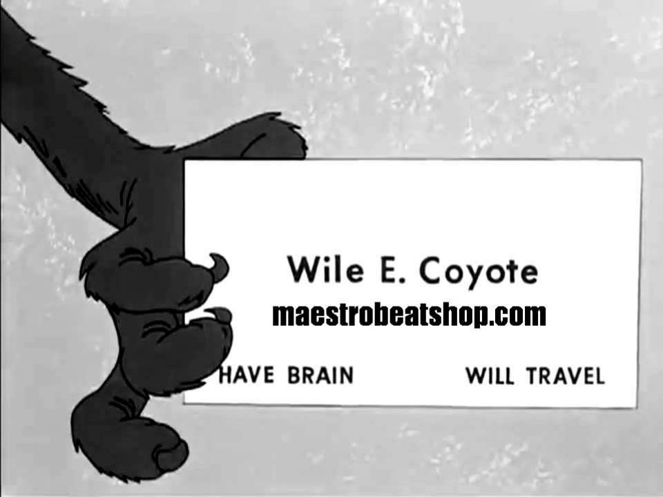 Dorable wile e coyote business card composition business card fantastic wile e coyote business card ornament business card ideas colourmoves
