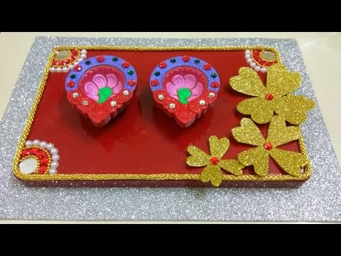 diya decoration candle decoration with cadbury