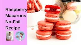 raspberry macarons no fail recipe raspberry french macarons