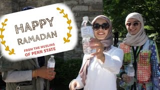 MUSLIMS HAND OUT WATER DURING RAMADAN | Muslims of Penn State