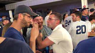 Yankees, Red Sox fans argue in Yankee Stadium