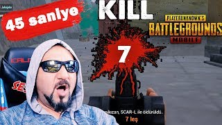 45 SANİYEDE 7 KİLL! 2 MAÇ VE FİLM TADINDA WIN! | PUBG MOBILE