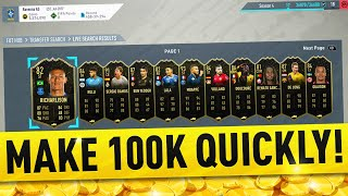 HOW TO MAKE 100K COINS QUICKLY ON FIFA 20! FIFA 20 TRADING TIPS