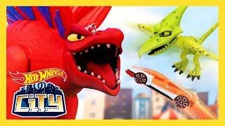 Double Dino Danger! | Hot Wheels City: Season 3 | Episode 2