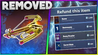 7 MORE Items And Features REMOVED From Fortnite Battle Royale ! | Crossbow, Refunding Skins And More