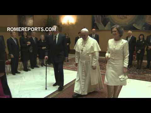 """Rey de España al Papa Francisco: """"Enhorabuena por lo que está haciendo"""""""