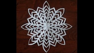 Paper snow flake challenge - Detailed tu...