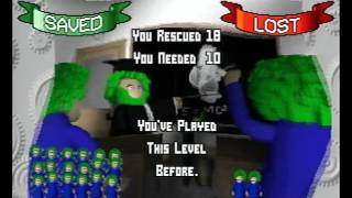 3D Lemmings PS1 Intro + Gameplay