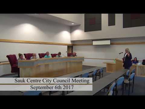 Sauk Centre City Council Meeting 9-6-17