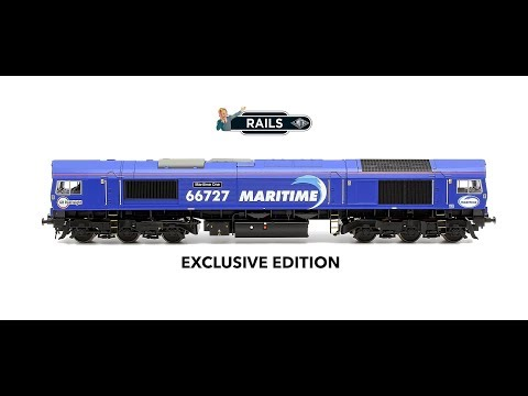 Rails Exclusive Edition Bachmann Class 66 727 'Maritime One' GBRF Maritime Locomotive