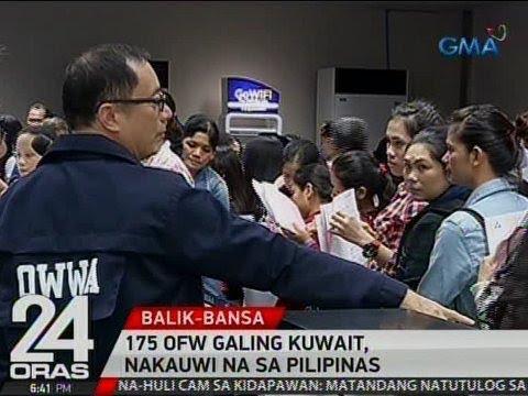 24 Oras: 175 OFW galing Kuwait, nakauwi na sa Pilipinas