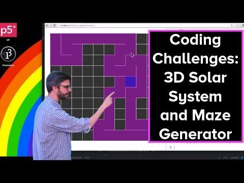 Live Stream #35: 3D Solar System and Maze Generator