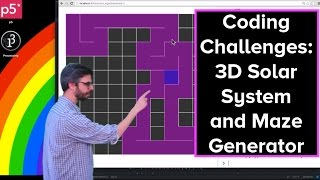 Live Stream #35: 3D Solar System and Maze Generator