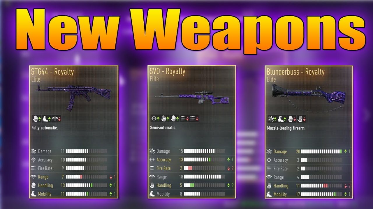 Variants stg44 sov sniper blunderbuss advanced warfare youtube